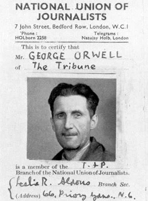 George Orwell Passport
