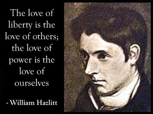 Rhetorical devices used in William Hazlitts essay