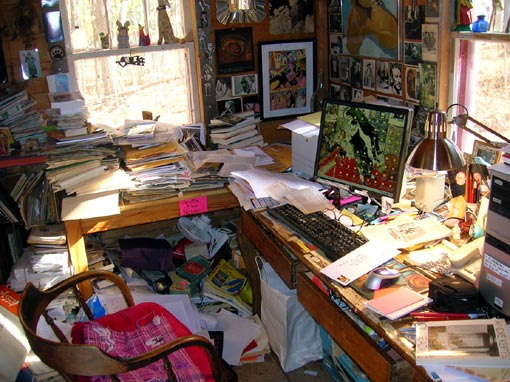 Norbert Blei's writing quarters - before