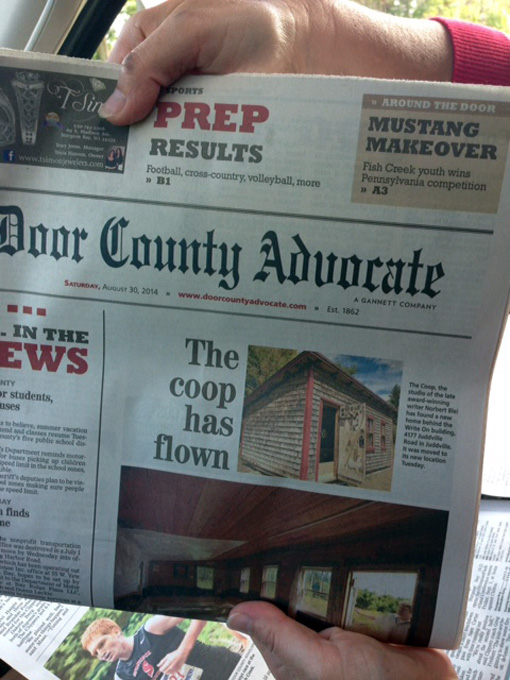 Door County Advocate | The coop has flown | poetry dispatch \u0026 other notes from the underground & Door County Advocate | The coop has flown | poetry dispatch \u0026 other ...