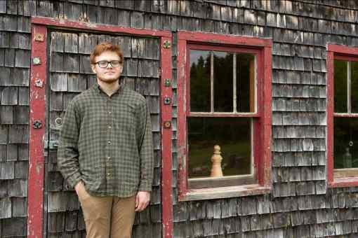 FISH CREEK - Solomon Lindenberg, a 2020 graduate of Gibraltar Area Schools, was awarded the seventh annual Norbert Blei Memorial Scholarship, named in honor of the late, well-known Door County writer. Photo: Lucas Smith/Courtesy Door Guide Publishing